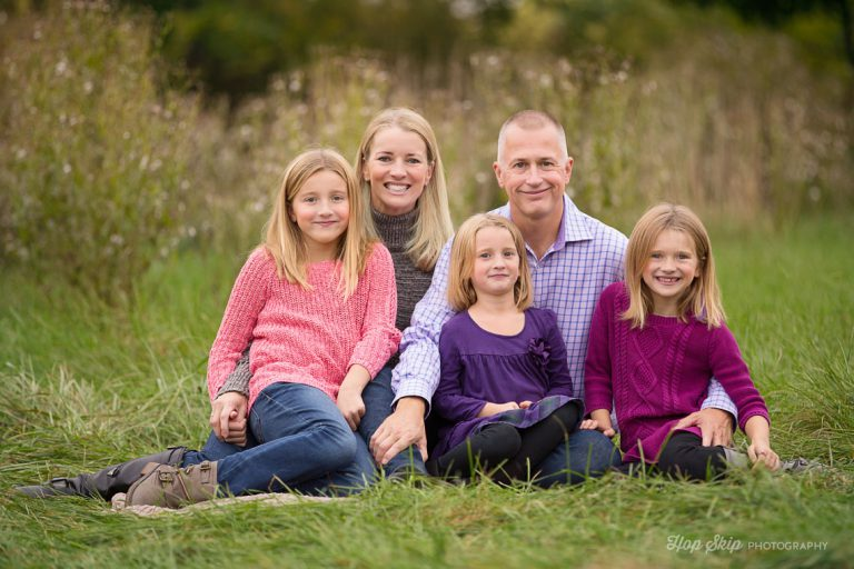 A Family With Three Sweet Girls